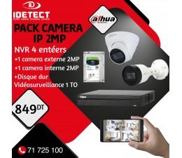 PACK 2 CAMERAS IP 2M+NVR...
