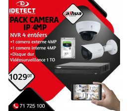 PACK 2 CAMERAS IP 4MP+NVR...