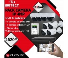 PACK 8 CAMERAS IP 4MP+NVR...