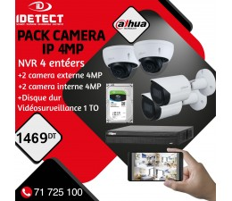 PACK 4 CAMERAS IP 4MP+NVR...